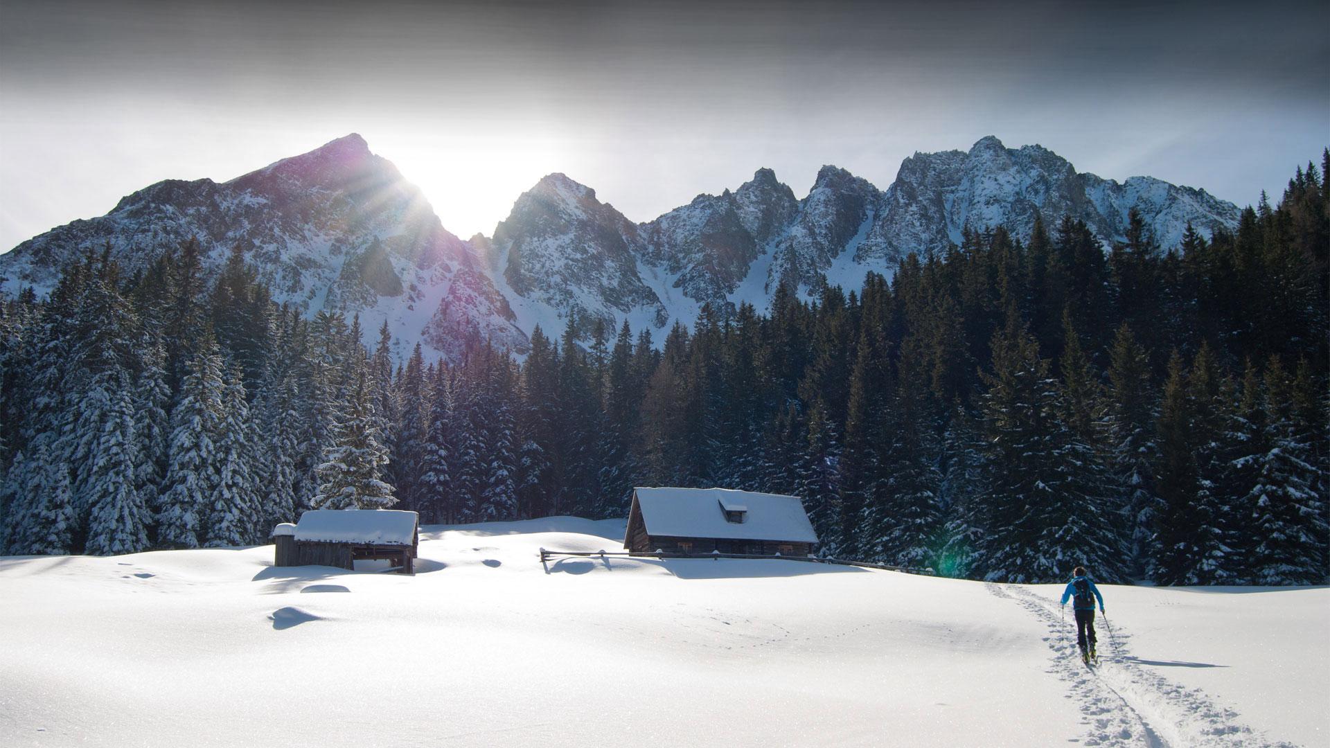 Skiing at Nedous