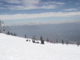 Skiing near Nedous Hotel